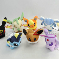 Lot 8 Pokemon Espeon Vaporeon Eevee Flareon Glaceon Leafeon Umbreon Plush/PC1906
