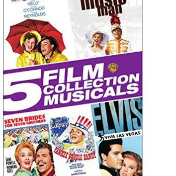 Gene Kelly & Robert Preston & Stanley Donen & Michael Curtiz-Singin' in the Rain / The Music Man / Seven Brides For Seven Brothers / Yankee Doodle Dandy / Elvis-Viva Las Vegas 5 Film Collection Musicals
