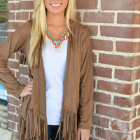 Binge on Fringe Cardigan