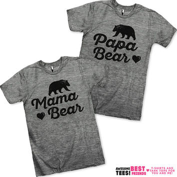 Mama Bear / Papa Bear Couples Shirts!