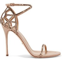 Royal Strass crystal-embellished suede sandals   SERGIO ROSSI   Sale up to 70% off   THE OUTNET