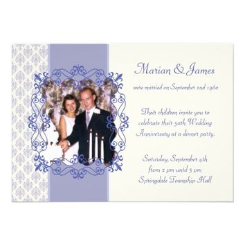 Photo 50th Wedding Anniversary Party Invitations from Zazzle.com