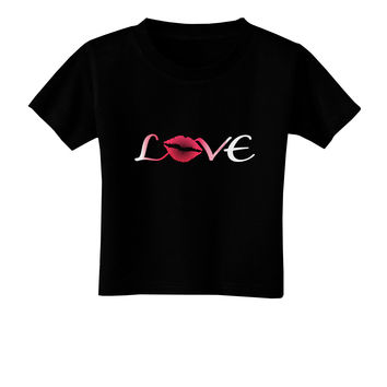 Love Kiss Toddler T-Shirt Dark