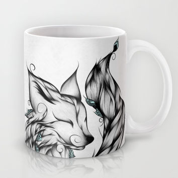 Fox B&W Mug by LouJah