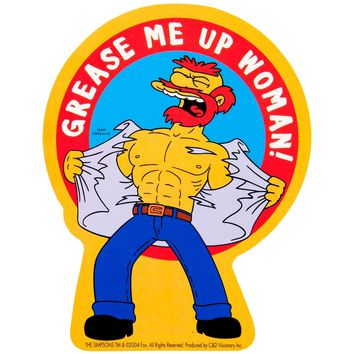 Simpsons - Grease Me Up Woman Decal