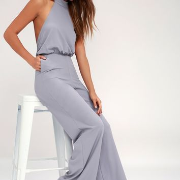 Moment for Life Lavender Halter Jumpsuit