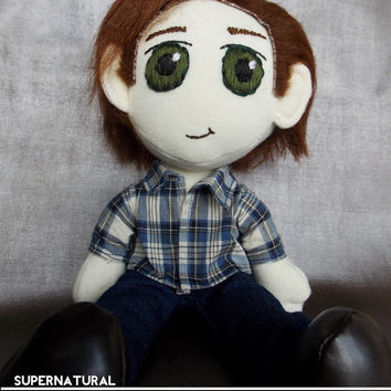 Sam Winchester Supernatural Plush Doll Plushie Toy Ragdoll Jared Padalecki