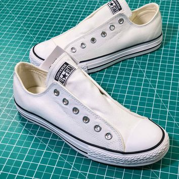 Converse All Star Slip ¢£ Ox White Sneakers - Best Online Sale