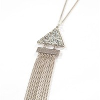 Rock Candy Triangle Necklace