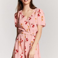 Button-Front Floral Dress