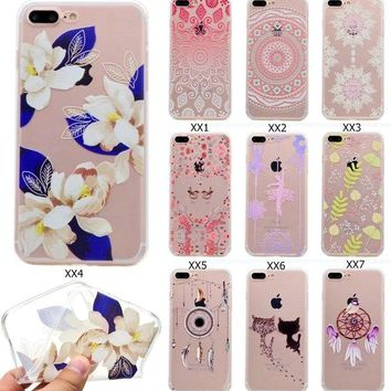 iPhone X 8 7 6 Plus 5 Case Mandala C II Clear Bumper Print Cover for Apple