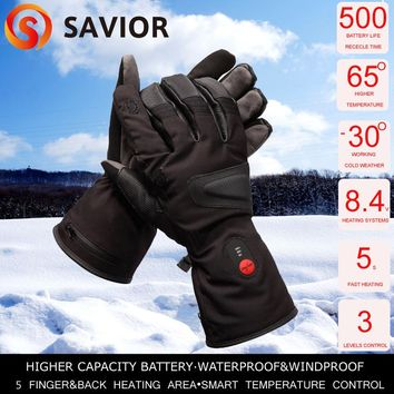 SAVIOR hunting fishing heating gloves winter warm riding horse racing heating gloves level 3 control men's gloves to keep warmin