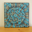 Turquoise and Bronze Painting Aboriginal Inspired 12 x12 by Acires