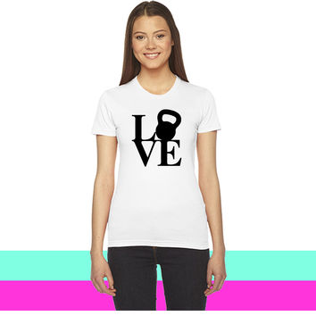 Love Kettlebell_ women T-shirt