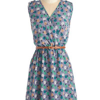 ModCloth Mid-length Sleeveless Ride Here, Right Now Dress in Ladybugs