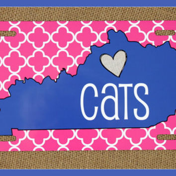 License Plate Car Tag Personalized Monogrammed Car Tag Car Accessories Kentucky State License Plates New Car