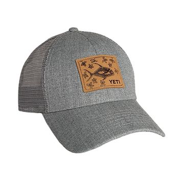 Permit In Mangroves Patch Trucker Hat in Grey by YETI