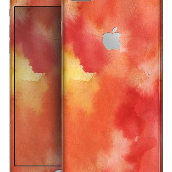 Red 53 Absorbed Watercolor Texture - Skin-kit for the iPhone 8 or 8 Plus