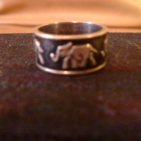 Sterling Silver Elephant Ring Size 7
