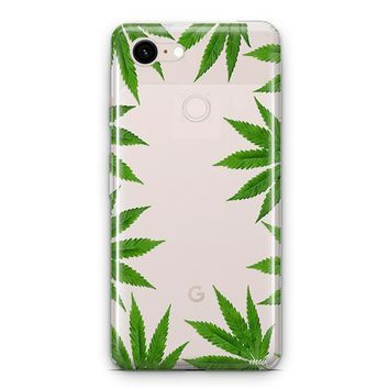Weed Frame Google Pixel 3 Clear Case