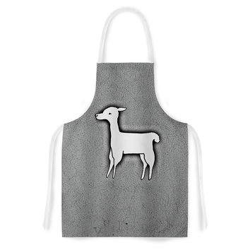 "Monika Strigel ""Llama One"" Grey Artistic Apron"