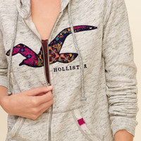 Girls Logo Graphic Fleece Hoodie | Girls Matchbacks | HollisterCo.com