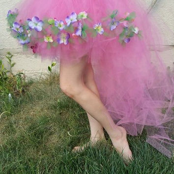 Hydrangea Garden Fairy Tutu, Fairy Costume, Fairy Skirt, Hi low skirt, Adult tutu, Plus size tutu