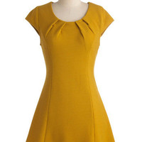 Golden Ginkgo Dress | Mod Retro Vintage Dresses | ModCloth.com