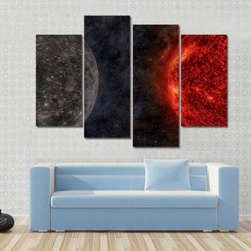 Solar System - Mercury Multi Panel Canvas Wall Art