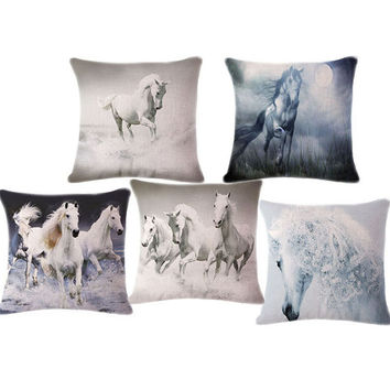Wild Horse decorative throw pillows cushions without insert digital printing animal Home Decor Cushion  almofadas housse coussin