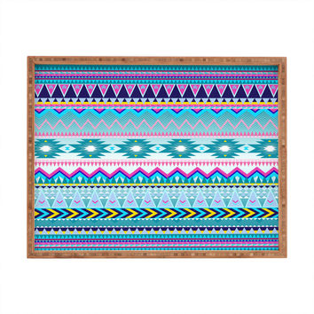 Iveta Abolina Tribal Teal Rectangular Tray
