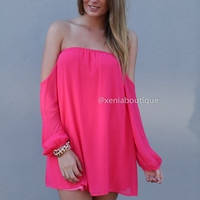 OFF THE SHOULDER BOW DRESS , DRESSES, TOPS, BOTTOMS, JACKETS & JUMPERS, ACCESSORIES, 50% OFF SALE, PRE ORDER, NEW ARRIVALS, PLAYSUIT, COLOUR, GIFT VOUCHER,,Pink,STRAPLESS Australia, Queensland, Brisbane