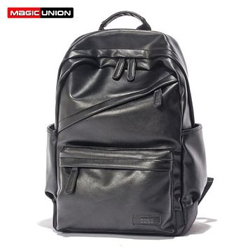Men Patent Leather Backpack Men's Travel Bags & Men's Leather Backpack Western College Style Backpacks School Bags