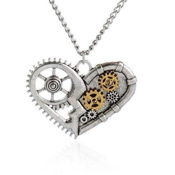 Retro Two Tone Steampunk Fashion Necklace Selection
