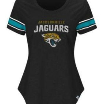 ICIKG8Q NFL Jacksonville Jaguars Majestic Women's Game Day Tailgate T-Shirt