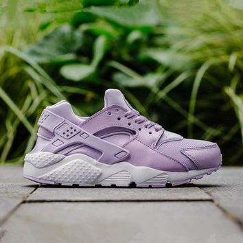 """NIKE""AIR Huarache Women Running Sport Casual Shoes Sneakers Purple G-CSXY"