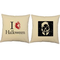 I Heart Halloween Throw Pillows