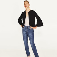 BLAZER WITH BELL SLEEVES DETAILS