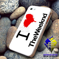 I Heart The Weeknd White  Design For iPhone Case Samsung Galaxy Case Ipad Case Ipod Case