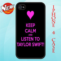 Keep Calm and Listen Taylor Swift Iphone 4 and 4s by MoonCase