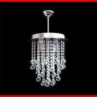 3 Lights Modern Crystal Chandelier Lamp Ceiling Lighting Rain Drop Round Pendant