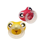 Gerber BPA Free 2-Pack NUK Pacifier Stage 2 - Animal Pink/Yellow