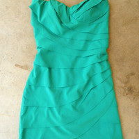 Emerald Waves Party Dress [4076] - $42.00 : Vintage Inspired Clothing & Affordable Summer Frocks, deloom | Modern. Vintage. Crafted.