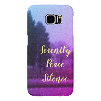 Serenity Peace Silence Samsung Galaxy S6 Case