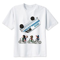 Stranger Things Mike Dustin Lucas Eleven Will Print T-shirts new T Shirts Summer Hipster Tops tees T shirt Home