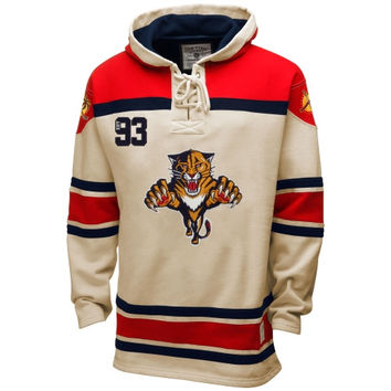 Florida Panthers Old Time Hockey Home Lace Heavyweight Hoodie – Stone