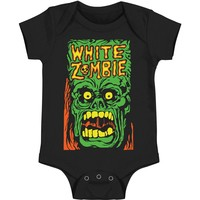 White Zombie Boys' Monster Yell Bodysuit Black