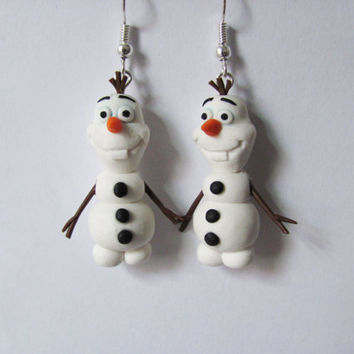 Olaf earrings from Disney movie Frozen
