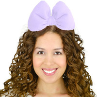 Lavender Hair bow Headband Cosplay Kawaii Birthday Party Theme for Women Teens Girls Minnie Mouse Daisy Duck Mickey Inspired