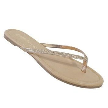 Sparkle In the Sun Sandal in Rose Gold